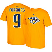 Reebok Men's Nashville Predators Filip Forsberg #9 Gold Player T-Shirt