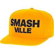 Reebok Men's Nashville Predators Smashville Adjustable Snapback Gold Hat