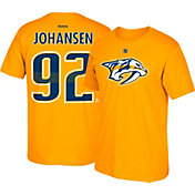 Reebok Men's Nashville Predators Ryan Johansen #92 Gold Player T-Shirt