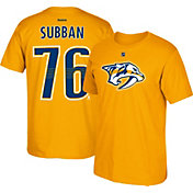 Reebok Men's Nashville Predators P. K. Subban #76 Gold Player T-Shirt