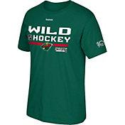 Reebok Men's 2017 NHL Stanley Cup Playoffs Minnesota Wild Green T-Shirt