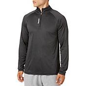 Reebok Men's Stripe Performance 1/4  Zip Long Sleeve Shirt