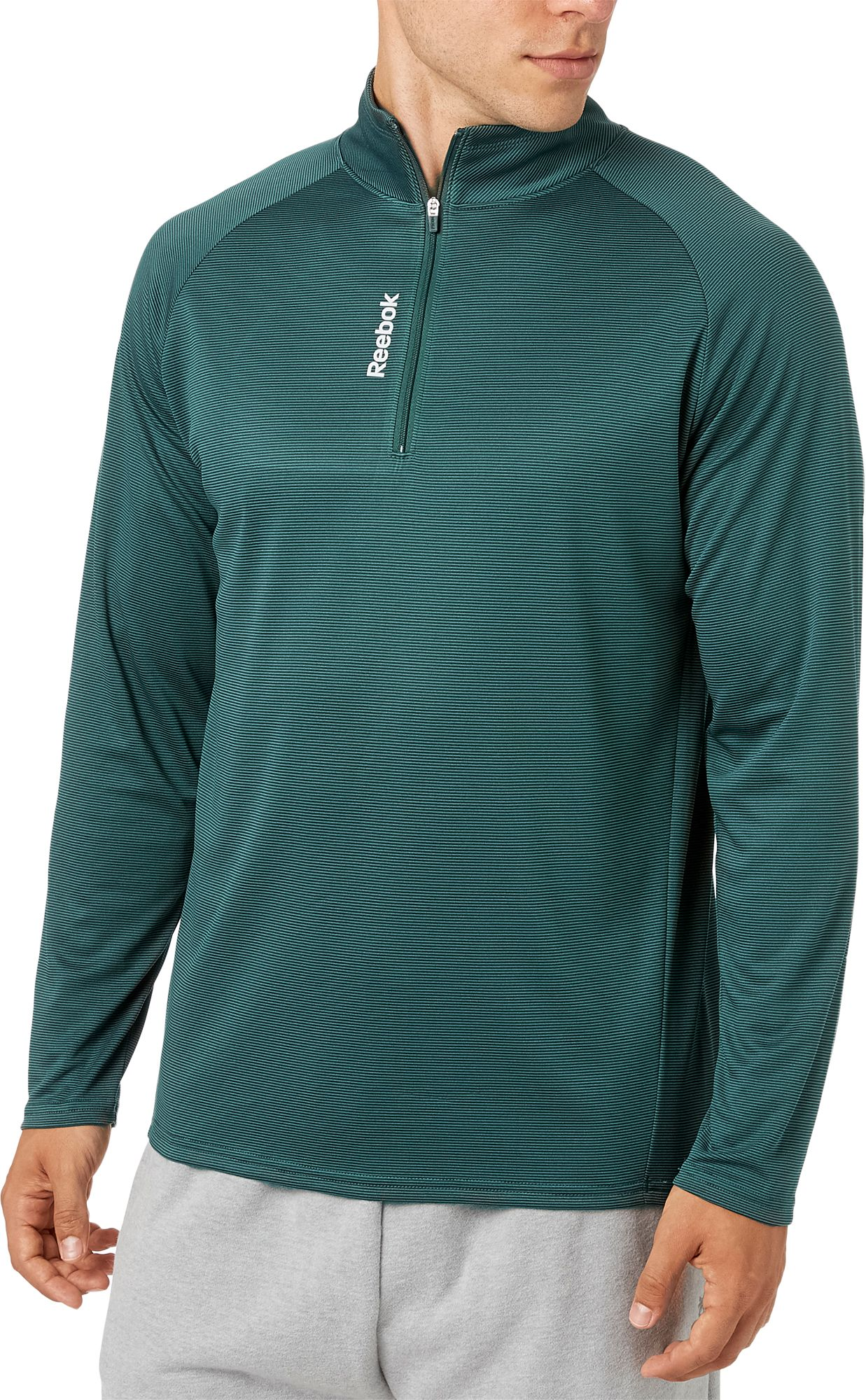 Reebok Men's Stripe Performance 1/4 Zip Long Sleeve Shirt. 0:00. 0:00 /  0:00. noImageFound ???