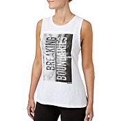 Reebok Women's Breaking Boundaries Graphic Side Slit Tank Top