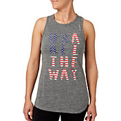 Reebok Women's USA All The Way Graphic High Neck Tank Top