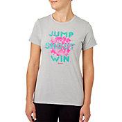 Reebok Women's Jump Shoot Win Graphic Basketball T-Shirt