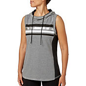 Reebok Women's Heather Jersey Sleeveless Hoodie