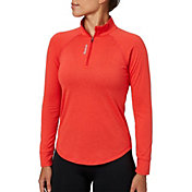 Reebok Women's Performance Heather Quarter Zip Long Sleeve Shirt