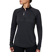 Reebok Women's Performance Heather Quarter Zip Long Sleeve Shirt