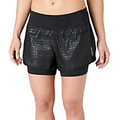 Reebok Women's Embossed Two-In-One Running Shorts