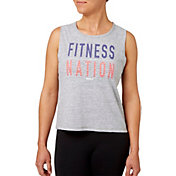 Reebok Women's Fitness Nation Graphic Crop Tank Top