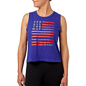 Reebok Women's USA Flag Graphic Crop Tank Top