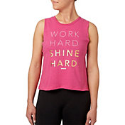 Reebok Women's Shine Graphic Crop Tank Top