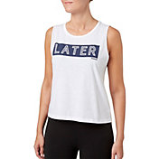 Reebok Women's Later Hater Graphic Crop Tank Top