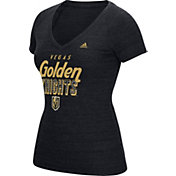 adidas Women's Vegas Golden Knights Logo Black T-Shirt