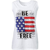 Reebok Women's Plus Size Be Free Graphic Muscle Tank Top