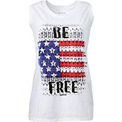 Reebok Women's Plus Size Be Free Graphic Muscle Tank Top