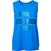 Reebok Women's Plus Size Strong To The Finish Graphic Muscle Tank Top