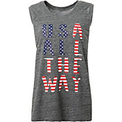 Reebok Women's Plus Size USA All The Way Graphic Muscle Tank Top