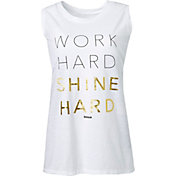 Reebok Women's Plus Size Shine Graphic Muscle Tank Top