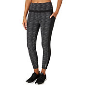 Reebok Women's Stretch Cotton Printed Side Pocket Ankle Pants