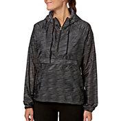 Reebok Women's Printed Woven Half Zip Jacket