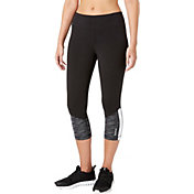 Reebok Women's Stretch Cotton Dot Dye Printed Capris