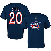 Reebok Youth Columbus Blue Jackets Brandon Saad #20 Navy Player T-Shirt