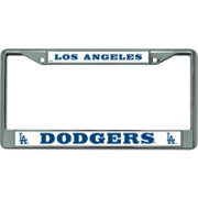 rico los angeles dodgers chrome license plate frame