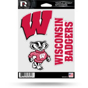 Rico Wisconsin Badgers Triple Spirit Stickers