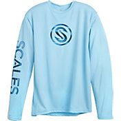 Scales Men's Hooks Waves Performance Long Sleeve Shirt