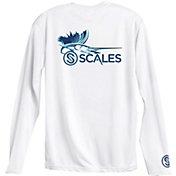 Scales Men's Sailfish Logo Performance Long Sleeve Shirt