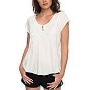 Roxy Women's Electric Fling Cap Sleeve T-Shirt