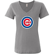 Soft As A Grape Women's Chicago Cubs V-Neck T-Shirt