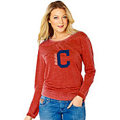 Soft As A Grape Women's Cleveland Indians Red Pullover Crew