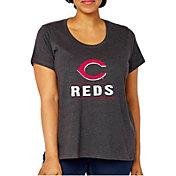 Soft As A Grape Women's Cincinnati Reds Tri-Blend Crew T-Shirt