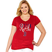 Soft As A Grape Women's Boston Red Sox Tri-Blend Red V-Neck T-Shirt