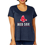Soft As A Grape Women's Boston Red Sox Tri-Blend Crew T-Shirt