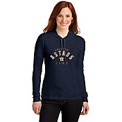 Soft As A Grape Women's Houston Astros Navy Pullover Hooded Fleece