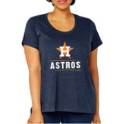 Soft As A Grape Women's Houston Astros Tri-Blend Crew T-Shirt - Plus Size