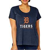 Soft As A Grape Women's Detroit Tigers Tri-Blend Crew T-Shirt