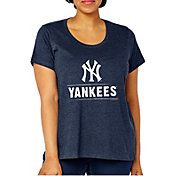 Soft As A Grape Women's New York Yankees Tri-Blend Crew T-Shirt
