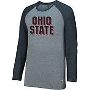 Scarlet & Gray Men's Ohio State Buckeyes Gray AAA Long Sleeve Raglan Shirt