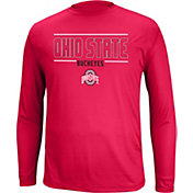 Scarlet & Gray Men's Ohio State Buckeyes Scarlet Callout Long Sleeve Shirt