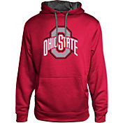 Scarlet & Gray Men's Ohio State Buckeyes Heathered Poly Fleece Scarlet Hoodie