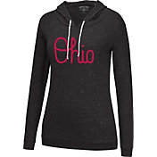 Scarlet & Gray Women's Ohio State Buckeyes Black Wildcard Hooded Long Sleeve Shirt