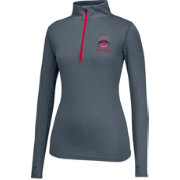 Scarlet & Gray Women's Ohio State Buckeyes Gray Get Going Quarter-Zip Top