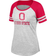 Scarlet & Gray Women's Ohio State Buckeyes Gray/Scarlet Pitch Perfect II Tee