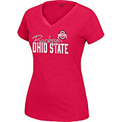 Scarlet & Gray Women's Ohio State Buckeyes Scarlet Favorite V-Neck T-Shirt