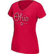 Scarlet & Gray Women's Ohio State Buckeyes Scarlet Grand Slam V-Neck Tee